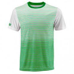 Pánske tričko Wilson Team Striped Crew Green/White