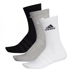 Ponožky adidas Cush Crew Grey/White/Black 3 páry
