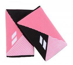 Potítka Babolat Jumbo Wristband Reversible Black/Pink (2 ks)