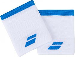 Potítka Babolat Logo Jumbo Wristband White/Blue (2 ks)