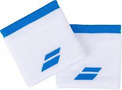 Potítka Babolat Logo Wristband White/Blue (2 ks)