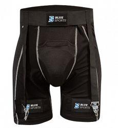 Šortky so suspenzorom a podväzkami Blue Sports Compression SR