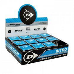 Squashové loptičky Dunlop Intro - modrá - balenie po 12 ks