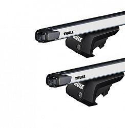 Strešný nosič Thule EVO Ford Mondeo (MKI/MKII) 5-dr kombi so strešnými lyžinami (hagusy) 1996-2000 s teleskopickou tyčou