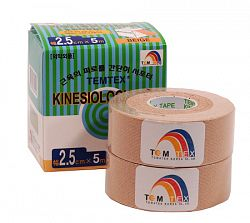 Tejpovacia páska TEMTEX Kinesio Tape Classic 2x 2,5 cm × 5 m
